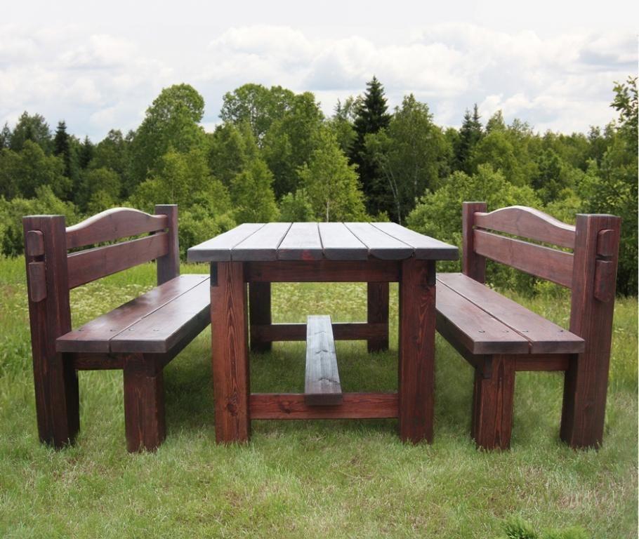 Мебель в беседке своими руками