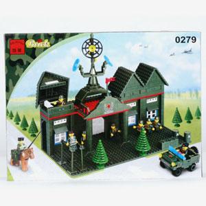 Конструктор brick 0279 военная база серии
