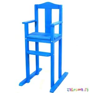 детский стульчик для кормления деревянный из массива высота 55 см