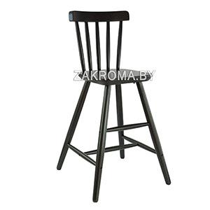 детский стульчик из дерева Ikea агам черный