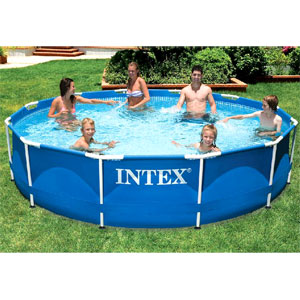 Intex 56996/28212 аЮЯЯЕИМ ЙЮПЙЮЯМШИ 366У76 ЯЛ Metal Frame Pool Set Я ТХКЭРП-МЮЯНЯНЛ