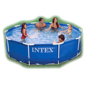 INTEX 56999/28202 Ѕј——≈…Ќ  ј– ј—Ќџ…  305x76 см Metal Frame Pools с фильтр-насосом