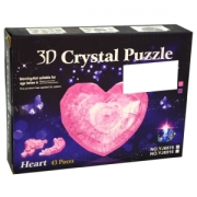 дЕРЯЙЮЪ ПЮГБХБЮЧЫЮЪ ХЦПСЬЙЮ 3D цНКНБНКНЛЙЮ Crystal Puzzle Heart 43 ОПЕДЛЕРЮ. юПР. 36059